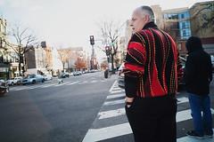Sweater (MikeSpeaks) Tags: canon25mmf35 washingtondc sweater streetphotography street crosswalk man