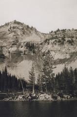 Chimney Lake 1, Eagle Cap Wilderness 2016 (Sara J. Lynch) Tags: sara j lynch eagle cap wilderness wallowas eastern oregon chimney lake black white asahi pentax k1000 35mm film island francis bowman trail