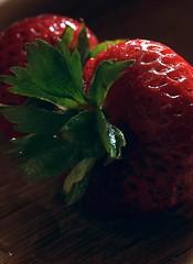 Strawberries (BikeColorado) Tags: macro fruit strawberries abstract