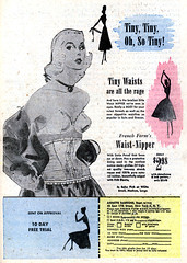 French Form, 1953 Waist-Nipper ad (Tom Simpson) Tags: girdle frenchform lingerie vintage 1953 1950s ad ads advertising advertisement tinywaist waist waistcincher