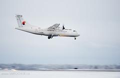 First Air ATR 42-300 C-GSRR (Stephen M. Fochuk) Tags: cgsrr firstair bradleyairservices cyzf yellowknife nwt northwestterritories atr42300 winter snow