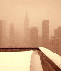 Gotham Chrysler building Blizzard 2006 (dannydalypix) Tags: newyorkcity nyc blizzard blizzard2006 gothamist gotham chryslerbuilding