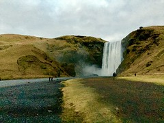 Skogafoss waterfall (lolamorena) Tags: places travel stunning cool water river beautiful landscape natural cold artic nature waterfall skogafoss iceland