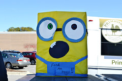 Minion can tote (CFBCA) Tags: minions minion creative box tote canned holiday food drive craft yellow feed me community bank central alabama birmingham