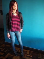 2016.11-02 (SamyOliver) Tags: samycd samyoliver samanthaoliver samantha shemale samy crossdresser crossdress redhead genderfluid rock rockchick rockgirl oliver boytogirl modeling tranny transvestite transformista brazil