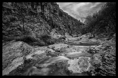 Val Rosandra in black & white. Trieste Italy (Mau&Sa) Tags: val rosandra valrosandra bagnoli trieste trst ts blancoynegro blackwhite monochrome bianconero valley karst carso stream creek water slow longexposure