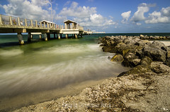 Gulf Pier (Photos by Christopher Percy) Tags: sea beach water landscape florida sony bluesky tamron fortdesoto hoya