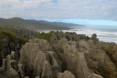 Pancake Rocks ( Peter_NZL) Tags: sea landscape scenery rocks waves southisland pancake tasman d3100