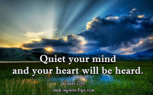 Your heart will whisper to you all that you crave to know, all that you desire to know, when you quiet the mind. Drop into your heart and listen. Love is always speaking and guiding you through your own heart.