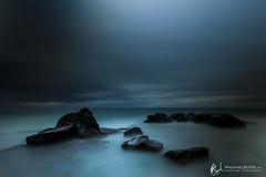 IMG_2216-Edit.jpg (Michael Blyde) Tags: ocean longexposure blue sea mist beach coast rocks waves dusk tide fineart australia minimal coastal le nsw bluehour centralcoast landsacpe forrestersbeach michaelblyde michaelblydecom seascapephotographercom