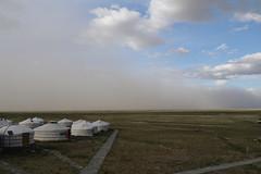 P1140419 (WhatsAllThisThen) Tags: camp storm desert mongolia sandstorm dust gobi ger haboob 3camellodge
