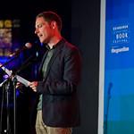 Allan Radcliff on stage during Jura Unbound with Gutter magazine