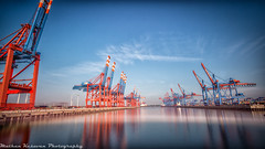 Hamburg container harbour (Mathan Kesavan) Tags: nikon harbour container hafen f4 d800 shiff 1635