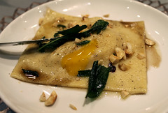 Squash (Bon Eats) Tags: food dinner egg pasta sage squash hazelnut butternut yolk raviolo brownbutter boneats