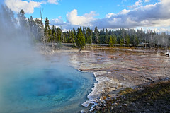 Yellowstone Geyser Fall Snow (fortherock) Tags: snow fall yellowstone geyser