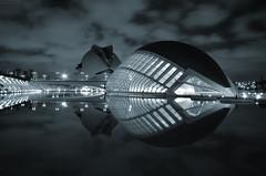 Binary Code (Fotomondeo) Tags: espaa valencia architecture night reflections lights luces noche spain arquitectura nikon reflejos ciudaddelasartesylasciencias sigma1020mm cityofartsandsciences calatreva nikond7000 elhemisfric