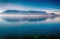 Lake Geneva (Bephep2010) Tags: mist lake fog schweiz switzerland see nebel sony nik alpha 77 hdr lakegeneva vaud lavaux lacléman neatimage genfersee waadt saintsaphorin hdrefex slta77v sal1650f28