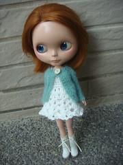 Blythe cardigan crocheted dress set