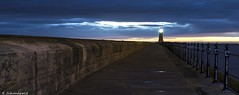 Tynemouth pier from the locked gate. (rickyschonewald) Tags: uk sky lighthouse seascape sunrise pier northsea northeast tynemouth nikond3100