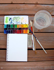 Mornings on the deck 2 :) (KAI | ZAN57) Tags: watercolor paint box artsupplies sketchkit
