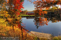 Fall Splendor II (sminky_pinky100 (In and Out)) Tags: travel autumn red orange lake canada tourism yellow barn reflections landscape pretty novascotia scenic foliage colourful fallcolours omot charleslake masterclasselite thenewmasterclass masterclassexhibtion