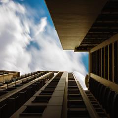 Above Home (headshotzx) Tags: blue sky urban cloud building clouds photography high singapore long exposure flat flats rise hdb