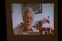 Keith Killby on video link at Millozzi ceremony