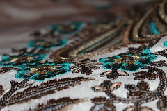 Hand embroidery (WorldClick) Tags: pink flowers blue wedding brown texture leaves canon eos gold photo flickr photographer hand embroidery indian eid photograph pakistani pearl bangle shaadi jewels sequins bangles phototgraphy 1100d canoneos1100d worldclick