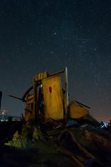 Bombay Beach (flomojo) Tags: california beach night stars nikon bombay saltonsea