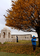 Walking through Tyne Cot Cemetery... (Samantha O'Kelly) Tags: cemetery digital canon soldier army eos missing memorial war military battle graves ww1 greatwar commonwealth forces sacrifice ypres passchendaele tynecotcemetery rebelxs beligium