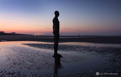 Another Place0037 (chris fearnehough) Tags: sunset liverpool sunrise crosby antonygormley anthonygormley anotherplace gormleystatues ironmanstatues