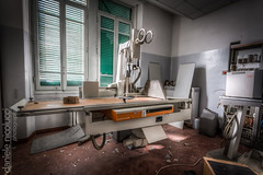 X-Ray machine (Daniele Nicolucci photography) Tags: building abandoned window hospital sadness dangerous ruins loneliness sad risk time machine eerie adventure machinery forgotten xray shutter radioactive lonely forsaken exploration hdr radiology forlorn ruined hopeless hopelessness