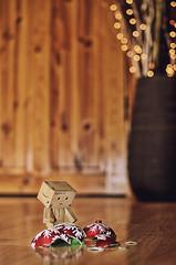fallen...  2/365 (popp1973) Tags: christmas decorations toy toys nikon bokeh danbo 35mmf18 revoltech bokehlicious danboard nikon35mmf18 nikond7000