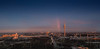 city of rainbow (turgeon76) Tags: blue cloud white tower munich münchen bayern bavaria abend rainbow fuji wolken ring arena stadt olympia fujifilm nik 23 autos blau stadion turm arbeit fujinon horizont regenbogen mittlere 2014 weis georgbrauchlering strase xf2314