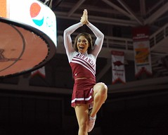 University of Arkansas Razorbacks vs South Carolina Basketball (Garagewerks) Tags: woman game college basketball sport female university all spirit stadium sony southcarolina sigma carolina arkansas cheer cheerleader squad tamron f28 razorbacks 70200mm views200 views400 slta77v