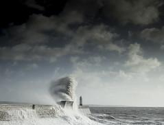 The money shot, 2014 Hercules Storm, Porthcawl (Tim Bow Photography) Tags: uk light sea storm nature water wales clouds dark landscape waves h2o welsh smashing seas bigwaves porthcawl devastating bigswell winterswell timboss81 timbowphotography porthcawlpierwaves biggestwinterswell herculeswinterstorm