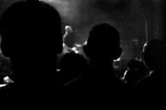 Half Man Half Biscuit (neate photos) Tags: music silhouette audience glasgow crowd grain band ears noflash halfmanhalfbiscuit methadone blackwhitephotography baldheads gregneate neatephotos o2abc