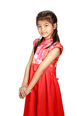 280A1865 (Patrick Foto ;)) Tags: china new red portrait people white cute girl beautiful beauty smiling festival female standing hair asian thailand happy person one costume kid colorful asia child dress little body background traditional small year chinese young culture happiness thai tradition ethnic eastern celebrate isolated cheongsam