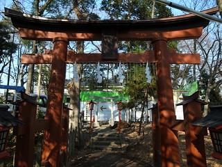 調神社の稲荷神社鳥居