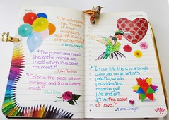 Colours !!! : (Milagritos9) Tags: flowers flores balloons colours hummingbird heart handmade sketchbook quotes corazn colibr birdportrait journalpages mily artistjournal picaflor visualdiary milagritos handwrittenjournal birdillustration illustratedjournal moleskinejournals moleskineproject johnruskinquote artmoleskine birdjournal inspirationaljournal hummingbirdportrait milycha diarioilustrado pjaroillustracin agendailustrada colibriart moleskinehandmade coloursjournal marcchagallquotes paulkleequote