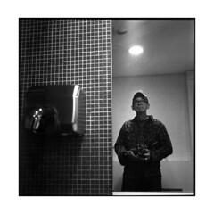 lem • le havre, normandy • 2013 (lem's) Tags: auto portrait rolleiflex self le havre normandie restrooms normandy toilets toilettes lem planar selfie