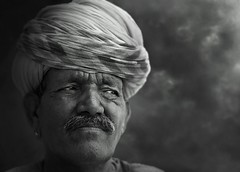 Rajasthan, India (posterboy2007) Tags: bw india sony turban sikh gentleman rajasthan
