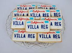 Custom Vanity Plate Cookies