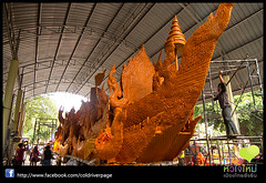 Candle Festival parade at Ubon Thailand - Made the big Candles trip_037