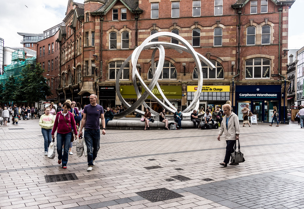 The 'Spirit of Belfast' by New York artist Dan George is an iconic landmark for Belfast city centre