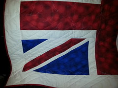 Union Jack throw based on Mollie Sparkles block for a friend..