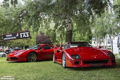 Ferrari F40 & 458 Speciale (RAFFER91) Tags: 911 martini huracan s ferrari racing turbo porsche 50th lamborghini rs speedster gallardo carrera speciale mkii f40 991 gt3 356 993 997 458 lp5502 lp6104 autobello2014autobellomadridspainnikond7100carspotting