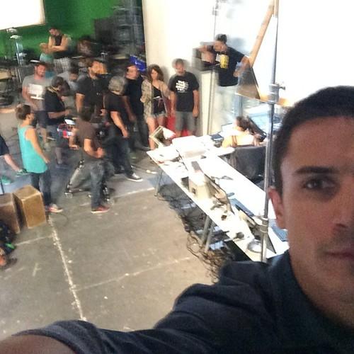 """Álex González grabando la segunda temporada de """"El Príncipe"""""""