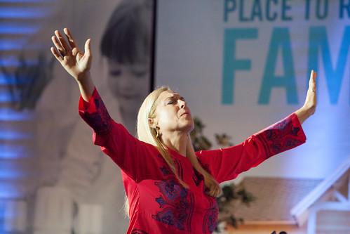 Cate Iannello ministering in Dallas