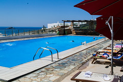 irenes view (epistimigallery) Tags: life family blue houses light vacation color castle water pool night swim island mirror cool ship village view balcony room cyan rent villas paros lightlife cycldes